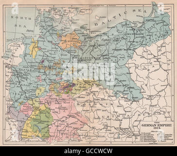 Karte Deutsches Reich 1914.Deutsches Reich Staaten Deutschland Preussen Hamburg