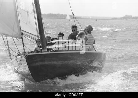 Segeln auf Victura mit Jackie Kennedy - Stockfoto