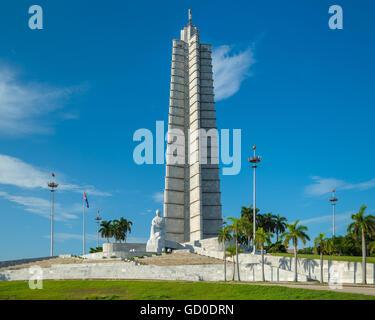 Der Plaza De La Revolucion in Havanna, Kuba. - Stockfoto