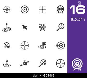 Vektor schwarze Symbole Zielsatz - Stockfoto