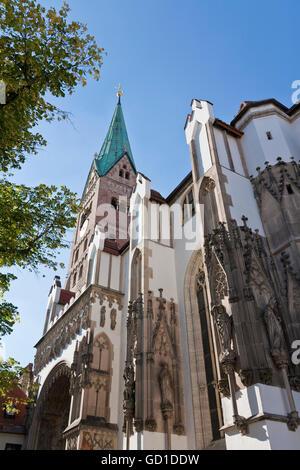 Kathedrale unserer lieben Frau, Kathedrale von Augsburg, Augsburg, Bayern - Stockfoto