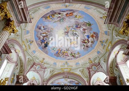 Geographie/reisen, bildende Kunst, religiöse Kunst, Deckengemälde, das Kloster Admont, Österreich, Artist's Urheberrecht - Stockfoto