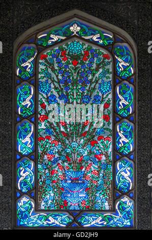 Bildende Kunst, Byzantinische Reich, Fenster im Harem des Topkapi Palast Istanbul, Istanbul, Artist's Urheberrecht - Stockfoto