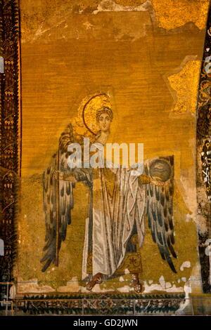 Bildende Kunst, religiöse Kunst, die Hagia Sophia, Istanbul, Türkei, Artist's Urheberrecht nicht gelöscht werden - Stockfoto