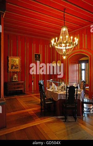Flgel Von Coburg Schloss Des Prinzen Wohnzimmer Im Gsteappartement Gedeckten Tisch Zum Essen