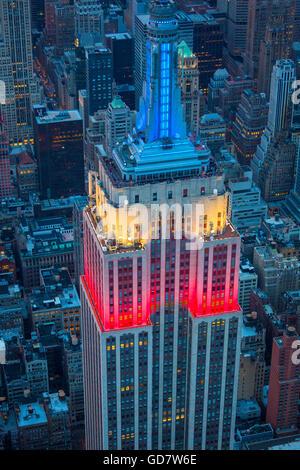 Das Empire State Building ist ein 102-Geschichte Wahrzeichen Art-Déco-Wolkenkratzer in New York City, USA - Stockfoto