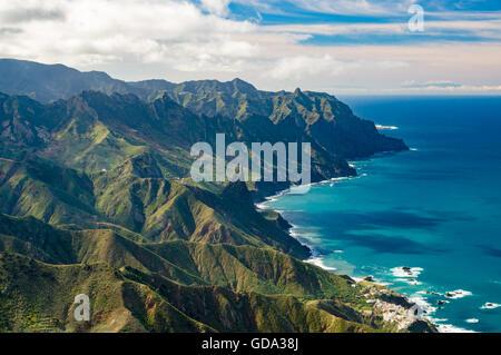 Anaga-Gebirge und Atlatic Ozeanküste, Teneriffa, Kanarische Inseln, Spanien - Stockfoto