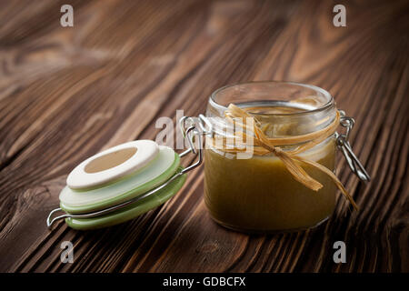 Natürliche diy grüne Chilisauce - Stockfoto