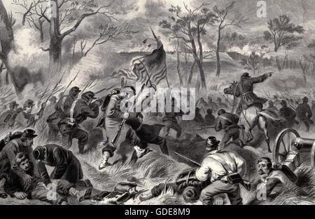 Eroberung von Fort Donelson, Tennessee, USA Bürgerkrieg - Stockfoto