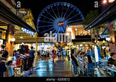 Asiatique Nachtmarkt, Bangkok, Thailand. - Stockfoto