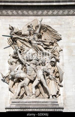 Paris, Arc de Triomphe - Stockfoto