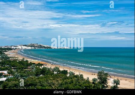 Strand von Vieste, la Gattarella, Nationalpark des Gargano, Foggia, Apulien, Italien, Europa - Stockfoto