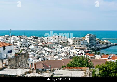 Vieste Gargano, Stadtbild Foggia-Apulien, Puglia, Italien, Europa - Stockfoto