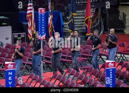 Cleveland, Ohio, USA. 15. Juli 2016. Luftballons für die Feier am ...