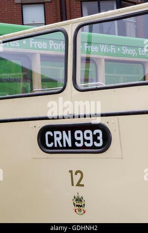 Straßenbahn Sonntag, Fleetwood, Lancashire, UK. 17.07.2016. Straßenbahn Sonntag, dieser eintägigen Veranstaltung - Stockfoto
