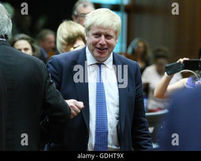 Brüssel, Belgien. 18. Juli 2016. Boris Johnson während des Runden Tisches am europäischen verschleiern. Bildnachweis: Leonardo Hugo Cavallo/Alamy Live-Nachrichten
