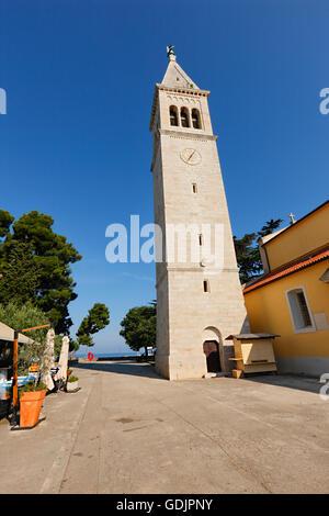 Kirchturm in Novigrad, Kroatien - Stockfoto