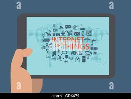 Internet der Dinge-Vektor-Infografik