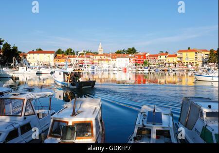 Hafen von Novigrad in Istrien - Stockfoto