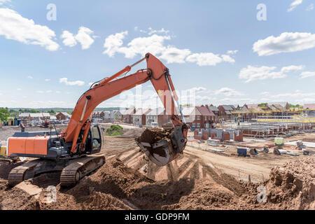 Bagger Gehäuse Baustelle Erde weiter - Stockfoto