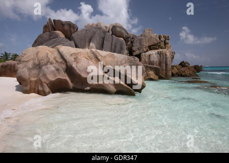 Geographie/Reisen, Seychellen, La Digue, Anse Cocos,, Additional-Rights - Clearance-Info - Not-Available - Stockfoto