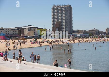 Margate, englische Urlaub Küstenstadt, im Distrikt Thanet in Kent, England, Vereinigtes Königreich - Stockfoto