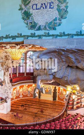 Palau De La Musica Catalana, von Lluis Domenech ich Montaner, Barcelona, Spanien - Stockfoto