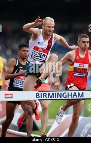Ben COLDRAY im Wettbewerb mit den Männern 3.000 m Hindernislauf 3, 2016 British Championships, Birmingham Alexander - Stockfoto