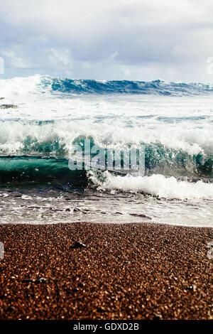 Detail der Red Sand Beach Ner Hana in Maui, Hawaii - Stockfoto