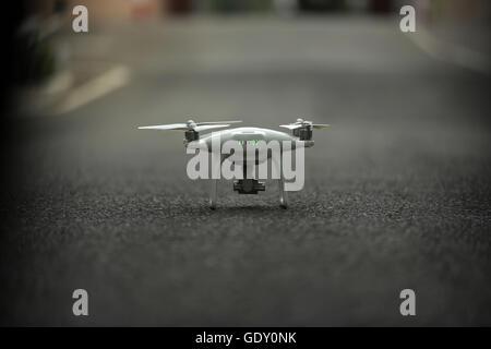 Quadrocopter Drohne Helicam - Stockfoto