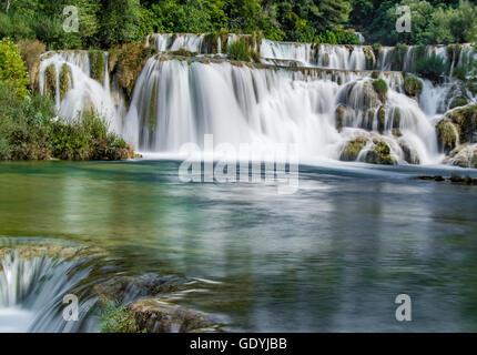 Die wunderschönen Krka Wasserfälle, Kroatien - Stockfoto