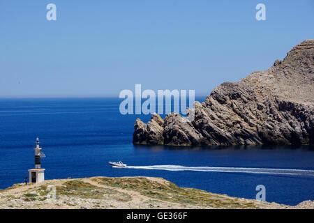 Geographie/Reisen, Spanien, Balearen, Menorca, Islds. In der Nähe von Fornells: Einlass an der Badia de Fornells, - Stockfoto