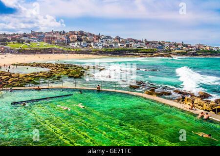 Schwimmbad in Sydney Bondi Beach - Stockfoto