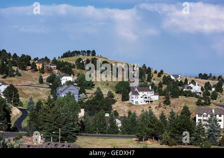 Wohnsiedlung, Jefferson County, Colorado, USA - Stockfoto