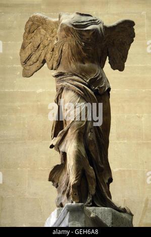 Griechische Kunst. Winged Sieg von Samothrace oder Nike von Samothrake. 2. Jahrhundert vor Christus. Marmor. Skulptur - Stockfoto