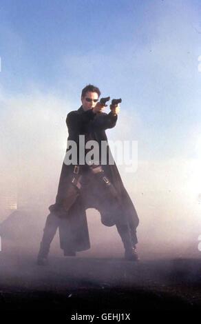 Neo (Keanu Reeves) *** lokalen Caption *** 1999, Matrix, Matrix - Stockfoto
