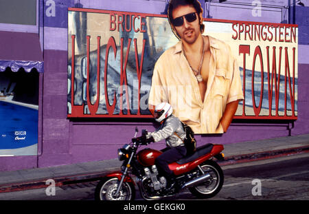 Bruce Springsteen Plakatwand an der Seite der Whisky A Go Go am Sunset Strip ca. 1992 - Stockfoto