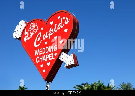 Geographie / Reisen, USA, Nevada, Wedding Chapel Schilder, Las Vegas, - Stockfoto