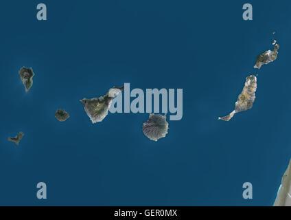 Satellitenbild der Kanarischen Inseln, Spanien. Dieses Bild wurde aus Daten, die per Satellit Landsat 8 im Jahr - Stockfoto