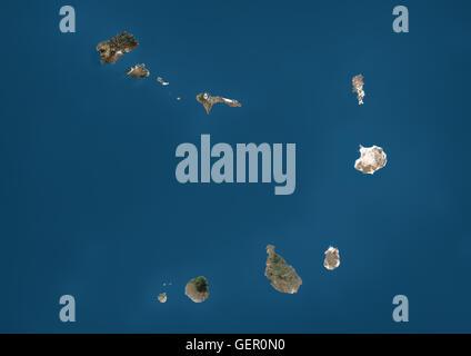 Satelliten-Ansicht des kapverdischen Archipels. Dieses Bild wurde aus Daten von Landsat-Satelliten erworben erstellt. - Stockfoto