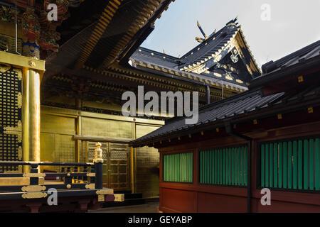 Details zu den vergoldeten geschichtliches im Ueno Park in Tokio, Japan - Stockfoto