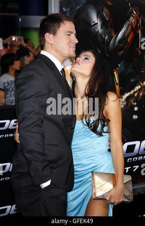 "MAVRIXPHOTO.COM Channing Tatum und Jenna Dewan an der Los-Angeles-premiere von ""G.I. Joe: The Rise Of The Cobra"" - Stockfoto"