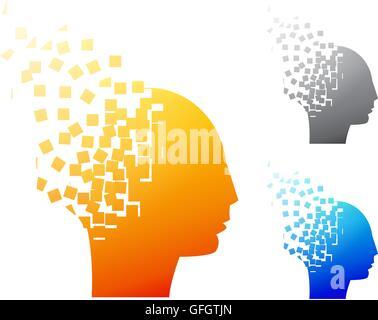 Abstrakten Gehirn Logo oder Alzheimer Symbol, Vektor - Stockfoto