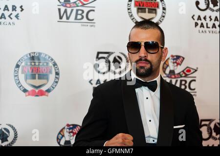Las Vegas, Nevada, USA. 30. Juli 2016. Milorad Zizic auf dem roten Teppich bei der 4. jährlichen Nevada Boxing Hall - Stockfoto