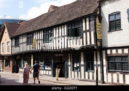 Das Tudor House Museum. Mönch St / Friar Street, Worcester WR1 2NA. VEREINIGTES KÖNIGREICH. - Stockfoto