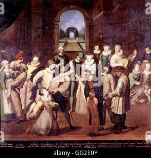 Frans Pourbus einzufangen (1545-1581) flämischen Schule Maskenball in der Zeit von Charles IX und Catherine de Medici - Stockfoto