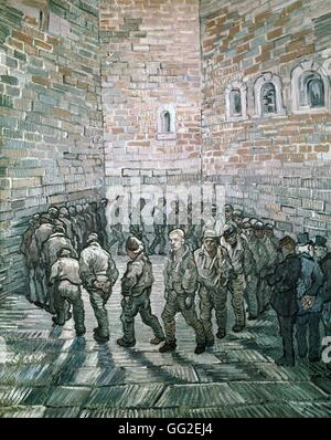 Vincent Van Gogh Niederländisch Schule Gefangenen Runde oder Gefangenen Ausübung 1890 Öl auf Leinwand (80 x 64 cm) - Stockfoto