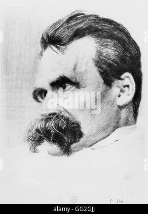 Porträt von Friedrich Wilhelm Nietzsche. Deutscher Philosoph und Schriftsteller - Stockfoto