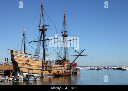 Geographie/Reisen, USA, Massachusetts, Plymouth, Mayflower (Clone), Plymouth, Additional-Rights - Clearance-Info - Stockfoto