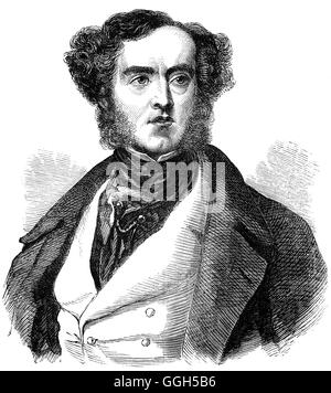 Lord William George Frederick Cavendish-Scott-Bentinck (1802 – 1848), besser bekannt als Lord George Bentinck, war - Stockfoto